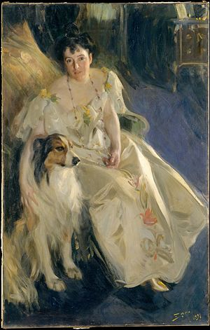 Virginia P. Bacon - Zorn's 1896 portrait of Mrs. Bacon, courtesy of the Metropolitan Museum of Art
