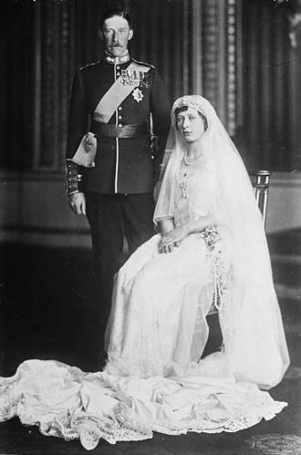 Mary, Princess Royal and Countess of Harewood - A 1922 wedding portrait of Princess Mary and Viscount Lascelles.