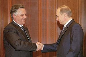 Petro Symonenko - In the Kremlin in 2002 with Vladimir Putin.