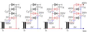 Voltage multiplier - Image: Voltage amplifier explain