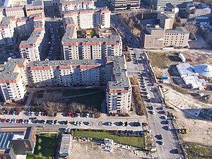 Voßstraße - Voßstrasse from the air in December 2003