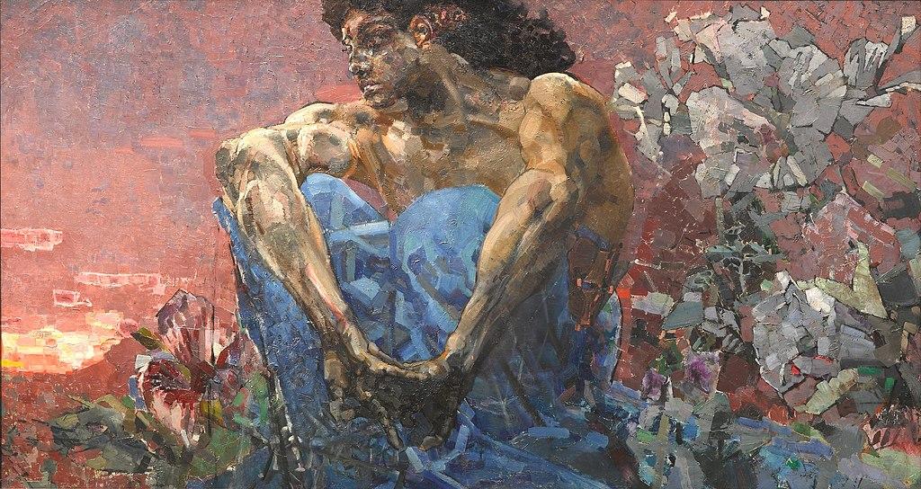 Михаил Врубель. Демон сидящий. 1890 г.