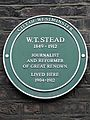 W. T. Stead 1849-1912 journalist and reformer of great renown lived here 1904-1912.jpg