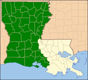 United States District Court for the Western District of Louisiana - Image: WDLA map