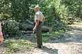 WE Ken Benson in front of downed power lines (6096816411).jpg