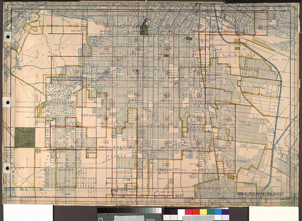 File Wpa Land Use Survey Map For The City Of Los Angeles Book 8 Downtown Los Angeles And Hyde Park To Watts District Sheet 32 1295 Jpg Wikimedia Commons