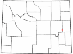 Location of Lost Springs, Wyoming