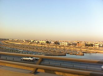 Wadi Hanifa - A view of Wadi Hanifa in Riyadh from King Fahd Road