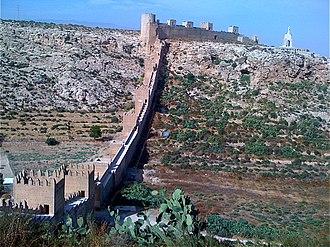 Alcazaba of Almería - Image: Wall of the Alcazaba of Almeria