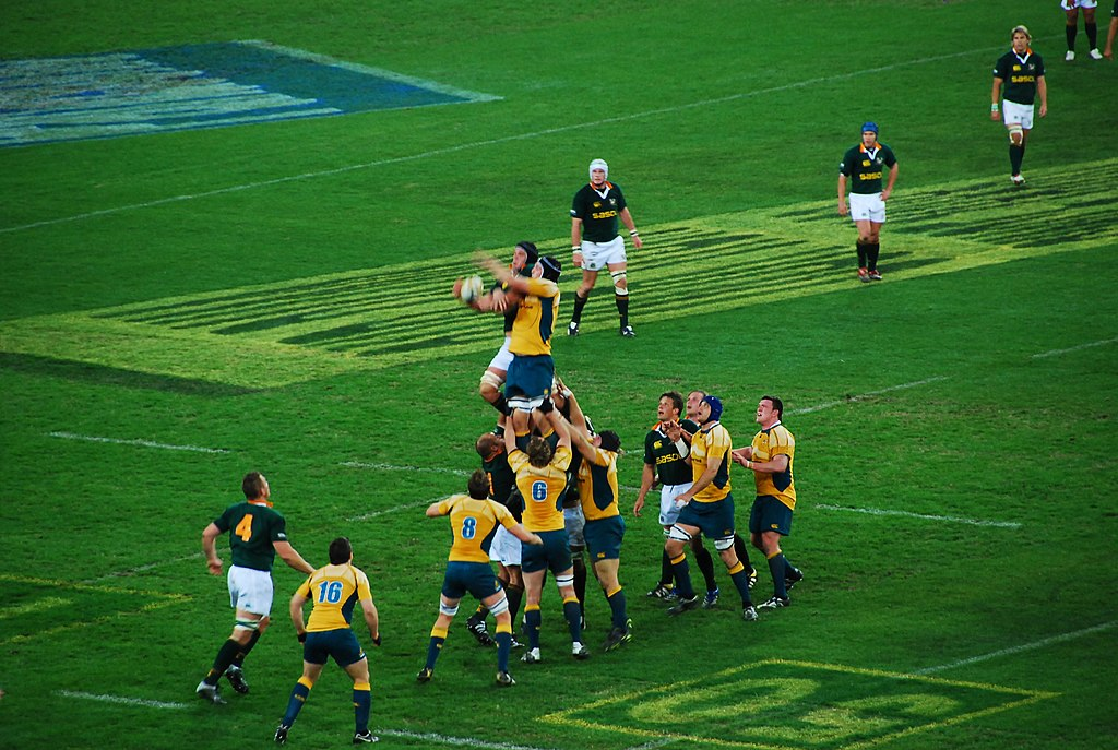 Wallabies vs Springboks lineout