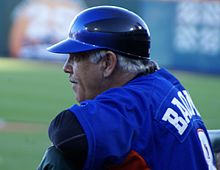Wally Backman in the Bisons' dugout at Coca-Cola Field.jpg