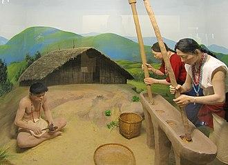 Wancho people - Diorama of Wancho people in Jawaharlal Nehru Museum, Itanagar.