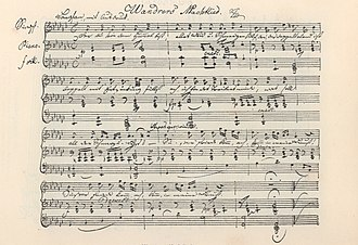 "Wanderer's Nightsong - Schubert: Song ""Wandrers Nachtlied"" I, Op. 4, No. 3 (D 224), autograph, 1815"