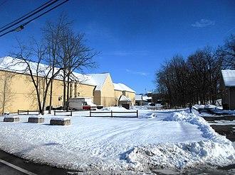 Washingtonville, New York - The former Washingtonville station, photographed in January 2015