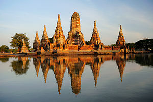 2011 Thailand floods - Flooding damaged several historic sites, including Wat Chai Watthanaram.