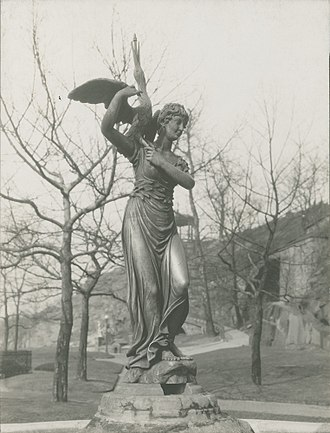 William Rush and His Model - The bronze copy of Nymph and Bittern (1872), in the 1930s.