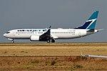 WestJet, C-FNAX, Boeing 737 MAX 8 (45272632461).jpg
