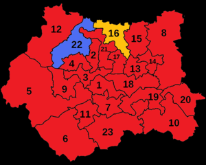 Leeds North West (UK Parliament constituency) - Leeds North West is shown here after the 2005 general election as the only Liberal Democrat constituency in West Yorkshire.