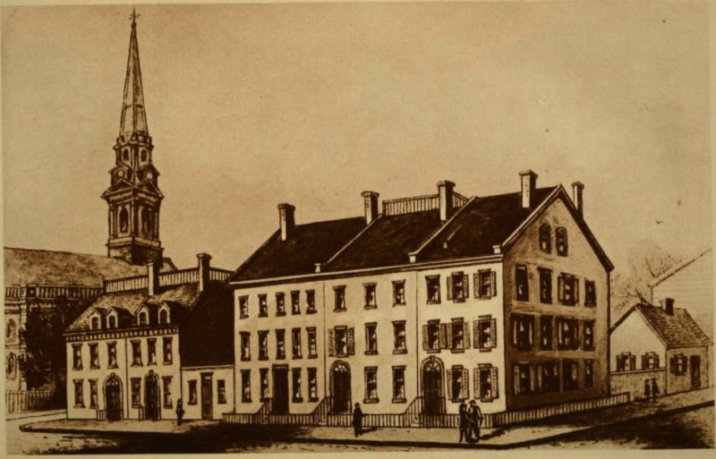 File:West side of Broadway, New York City, from Vesey Street to Barclay Street, 1830.tiff