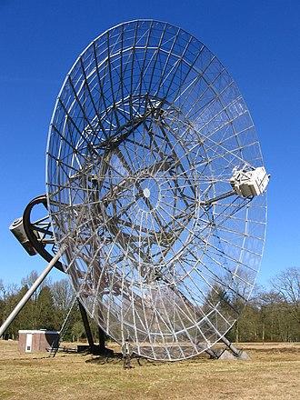 Westerbork Synthesis Radio Telescope - Single antenna in 2006