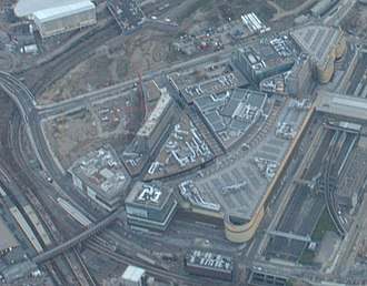 Westfield Stratford City - Aerial view of June 2011 construction