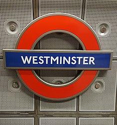 Westminster Station Roundel.jpg