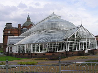 People's Palace, Glasgow - The Winter Gardens: conservatory at the rear of the People's Palace