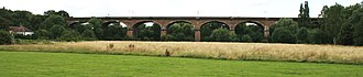 Wharncliffe Viaduct - The whole viaduct, viewed from the south