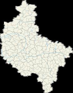 Mapa lokalizacyjna województwa wielkopolskiego