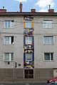 Wien-Penzing - Gemeindebau Linzer Straße 374 - Mosaik Abstraktes Ornament - 1958-59 von Joana Steinlechner-Bichler.jpg