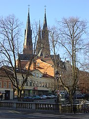 Uppsala cathedral in the background
