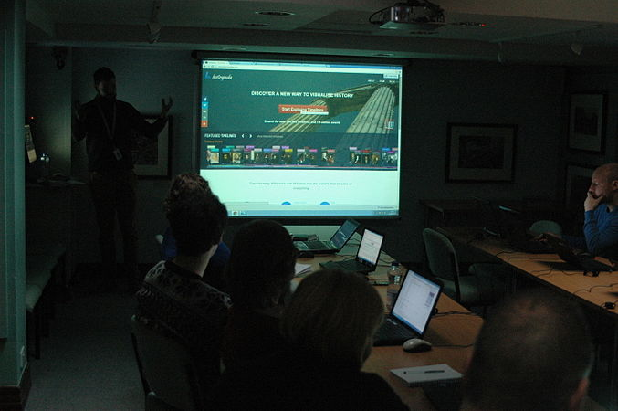Wikidata Edit-a-thon at National Library of Wales 01.jpg