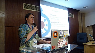 Wikimania 2008 Alexandria - Brianna - State of Commons - 5.jpg