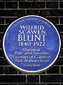 Wilfrid Scawen Blunt 1840-1922 diplomat poet and traveller founder of Crabbet Park Arabian Stud lived here.jpg