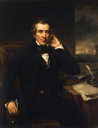 William Fairbairn - by Benjamin Rawlinson Faulkner, in the foreground Observations of the Cold blast, referring to On the strength and properties of cast iron obtained from the Hot and Cold blast, presented at the British Association for the Advancement of Science in 1838