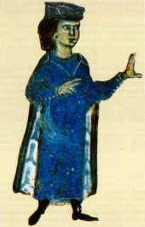 William IX, Duke of Aquitaine - Miniature of William from a 13th-century chansonnier now in the Bibliothèque nationale de France