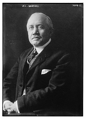 Naval Consulting Board - William Lawrence Saunders was chairman of the Naval Consulting Board in 1916