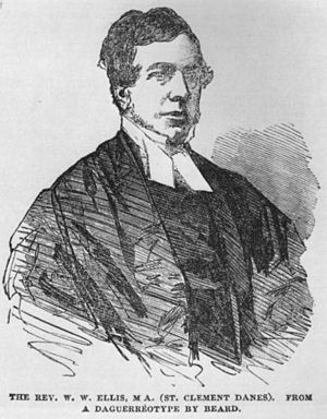 William Webb Ellis - The only known contemporary image of Webb Ellis, published in the Illustrated London News, 1854