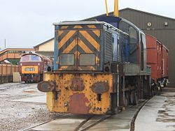 Williton Diesel Depot NCB No 7 and 1035.jpg
