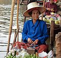 Woman in blue, Damnoen Saduak Floating Market.jpg