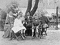 Women, man, garden, swing, kids, summer, tableau Fortepan 3791.jpg