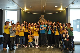 Participants of the Women Tech Storm hackathon in the Netherlands
