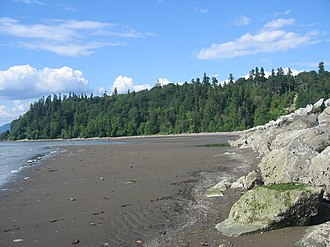 Wreck Beach - View of Point Grey from Wreck Beach proper.