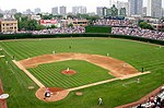 The baseball diamond at Wrigley Field, Chicago