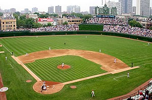 Lake View, Chicago - Wrigley Field, from which Wrigleyville gets its name, is home to the Chicago Cubs baseball
