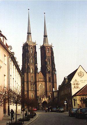 Deutsches Turn- und Sportfest 1938 - Cathedral in Breslau, now Wroclaw.