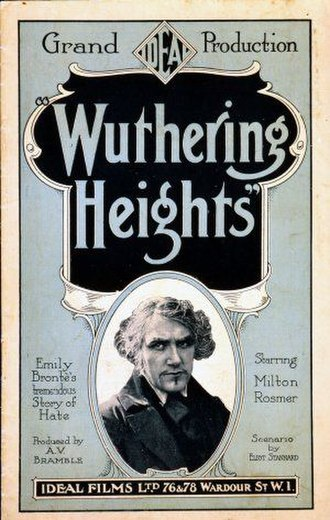 Wuthering Heights (1920 film) - Theatrical release poster