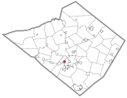 Location within Berks County