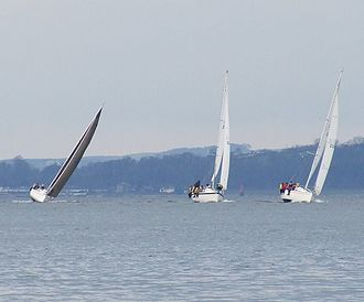 Firth of Clyde - Yachts off Inverkip - geograph.org.uk - 663046