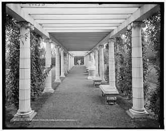 Yaddo - Pergola in Yaddo's gardens, photographed c. 1900–20